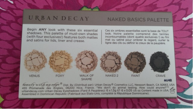 Urban Decay Naked Basics Palette | Packaging