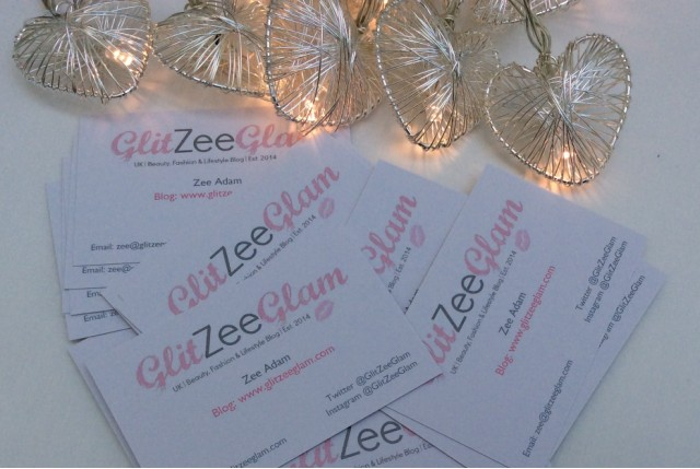 GlitZeeGlam Business Cards