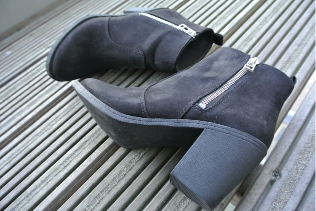 H&M Black Imitation Suede Ankle Boots | Review