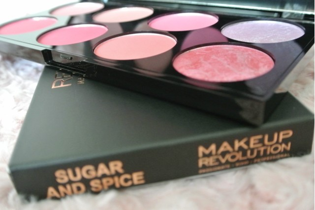 GlitZeeGlam | Makeup Revolution | 'Sugar & Spice' Ultra Blush Palette Review