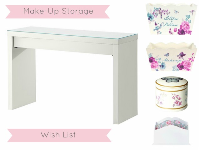 GlitZeeGlam | Make-Up Storage Wishlist