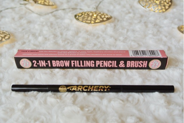 Soap and Glory Archery 2 in 1 Brow Filling Pencil & Brush in Hot Chocolate